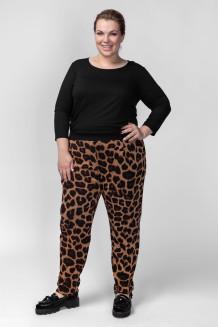 Брюки BB04521LEO21 коричневый леопард