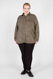 Блузка BL30208HEA30 хаки леопард