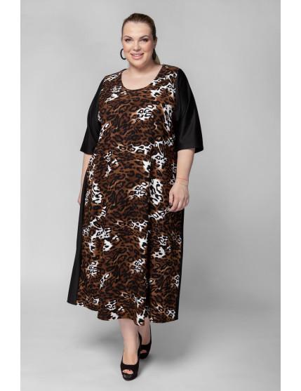 Платье PP01106LES20 черный/леопард