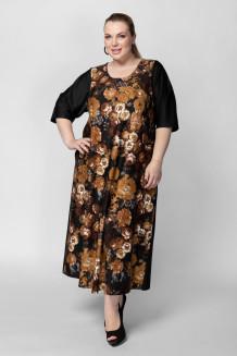 Платье PP01106ROS51 черный/цветы