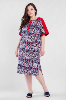 Платье PP50001ORN08 красный узоры