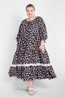 Платье PP55704ROM01 (черный/цветы)