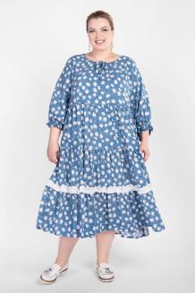 Платье PP55704ROM09 (голубой/цветы)