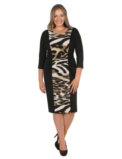 Платье Крупный леопард