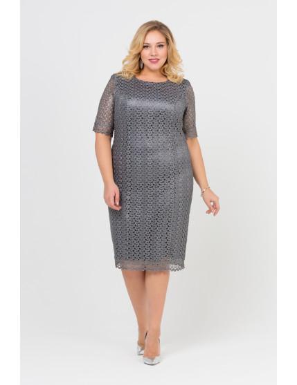 Платье Кружево (серый)