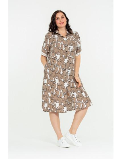 Платье Паулина (бежевый)