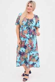 Платье 1058 голубой