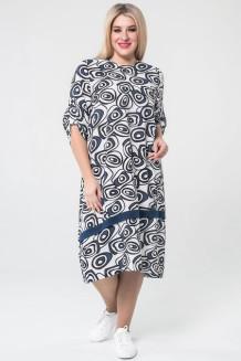 Платье 1061 синий