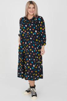 Платье 1206 темно синий
