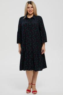 Платье 1214 синий/бирюзовый