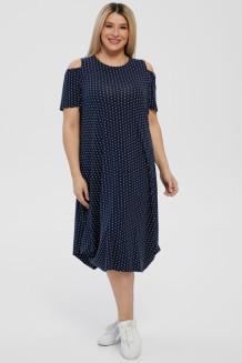 Платье 1216 темно-синий