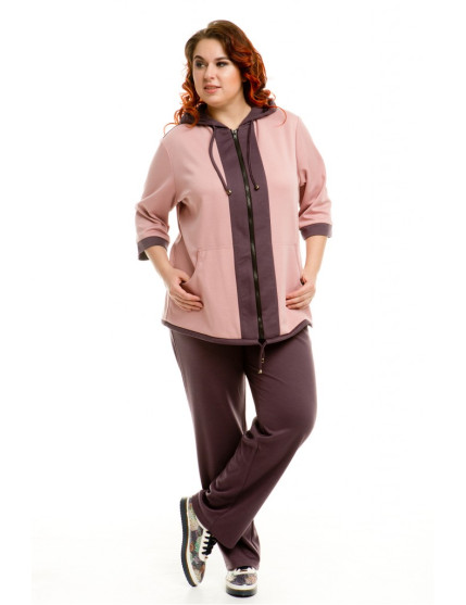 Спортивный костюм 220 (чернично-розовый)
