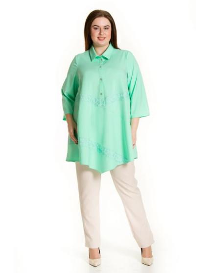 Блузка 625 (зеленый)