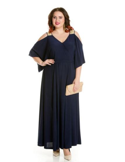 Платье 657 темно синий