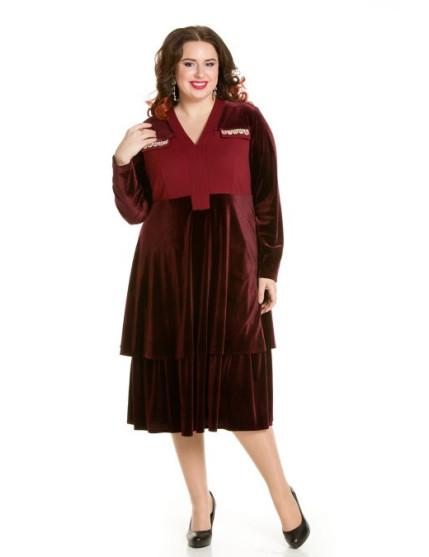 Платье 658 (бордо)