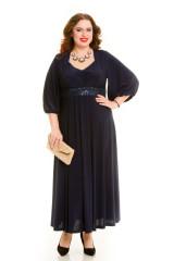 Платье 669 темно синий