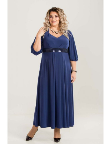 Платье 669 синий