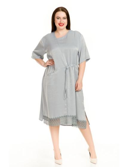 Платье 712 серый