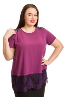 Блузка 735 (темно розовый)
