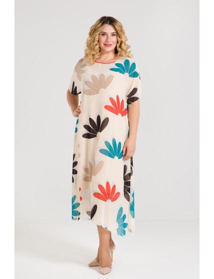 Платье 901 бежевый