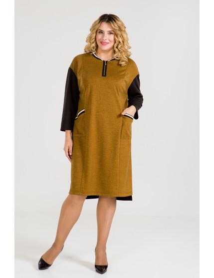 Платье 933 (горчица)