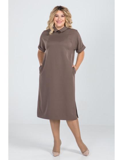 Платье 980 (коричневый)
