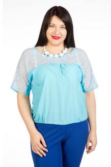 Блузка 439 (голубой)