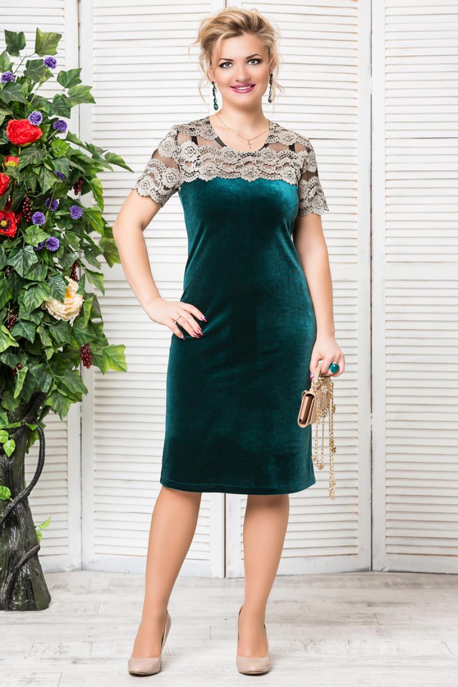 Одежда Лавира купить Платье Катрин (зеленый)