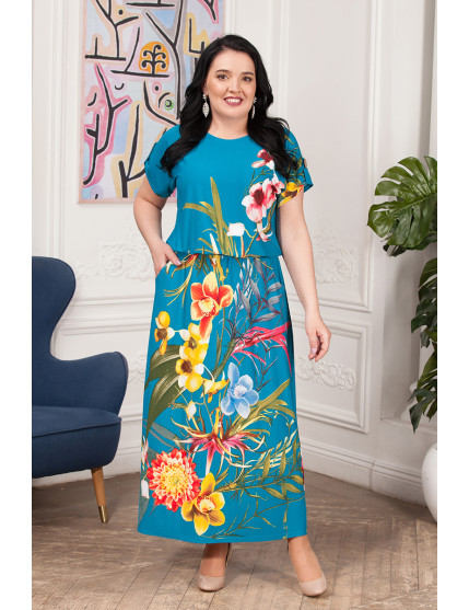 Платье Лилиана (бирюза)