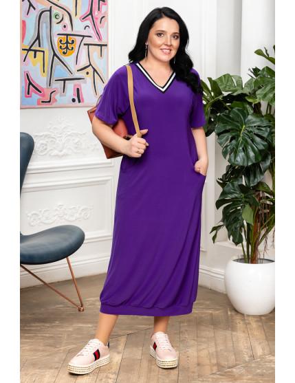 Платье Морячка фиолет