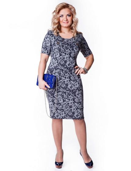 Платье Жасмин (синий)