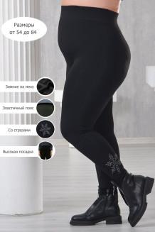Леггинсы женские Снежинка Plus size 480 den (черный, с начесом)