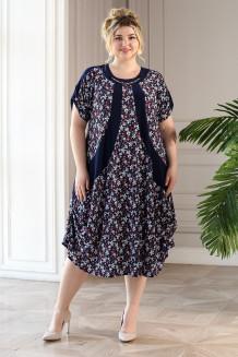 Платье Алевтина (синий/красный)