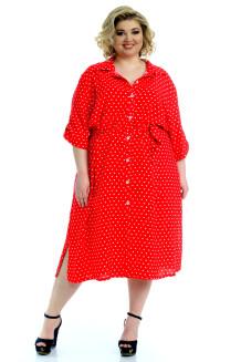 Платье Мальдивы (красный/горох)