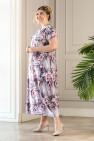 Платье Париж (серый/розовый)