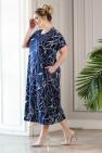 Платье Париж (синий/белый)