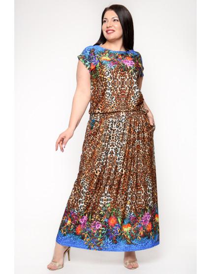 Платье Тиффани (леопард/цветы)