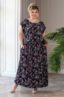 Платье Тиффани 2 (синий/красный)