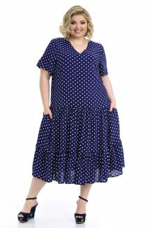 Платье Виктория (горох/синий)