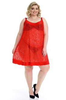 Сорочка Кружево (красный)