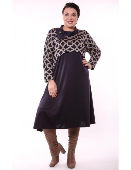 Платье Иветта (синий/ромб)