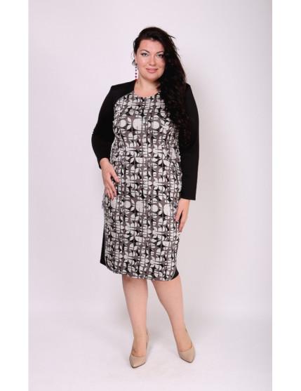 Платье Капучино (абстракция/серый)