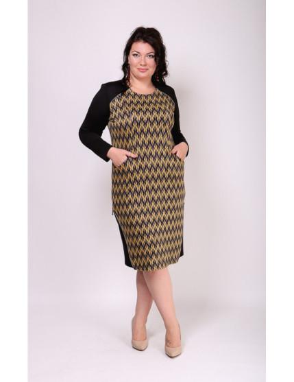 Платье Капучино (зигзаг/золото)