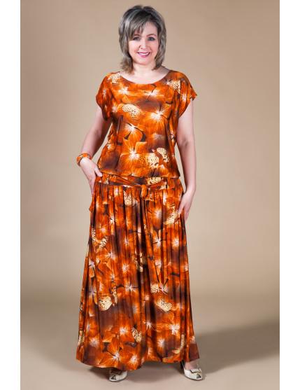 Платье Дженни (терракот)