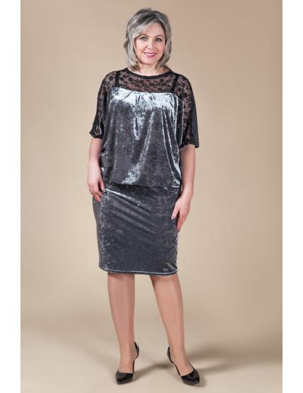 Платье Ночь (серый)