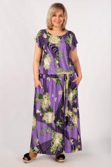 Платье Анджелина (сирень/цветы)