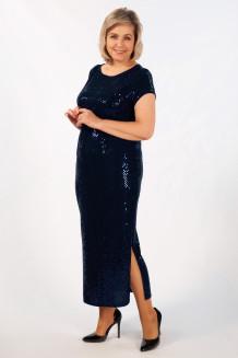Платье Диор (темно-синий)