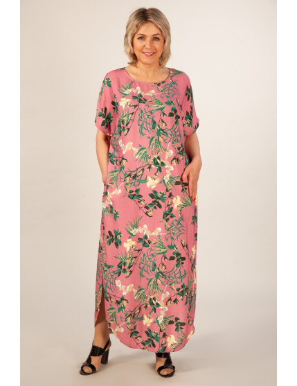 Платье Мальта (брусничный/зеленый)