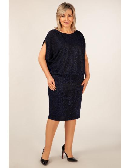 Платье Селин (черный/василек)