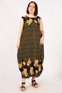 Платье Стефани (желтый черный)